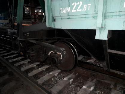 Вагон поезда сошел с рельсов под Новосибирском
