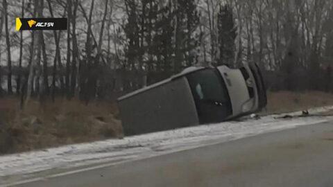 Лобовая авария случилась на границе Новосибирской области и Алтайского края
