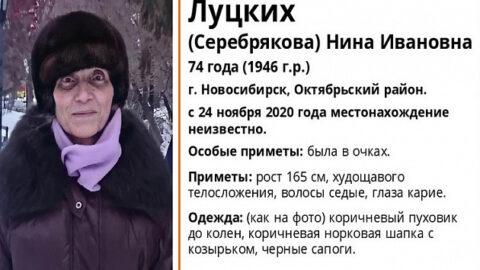74-летнюю пенсионерку ищут в Новосибирске