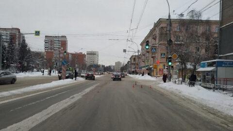 В Новосибирске на проспекте Дзержинского сбили пешехода
