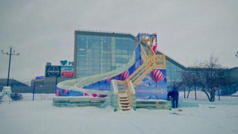 30 декабря открылся ледовый городок на Михайловской набережной