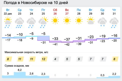 43-градусные морозы придут в Новосибирск в конце декабря
