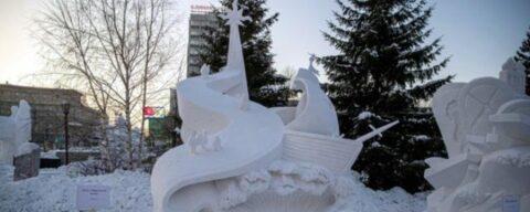 Команды Смоленска и Хабаровска победили на фестивале снежной скульптуры