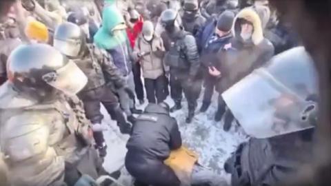 В Новосибирске у участника несогласованного шествия случился приступ эпилепсии