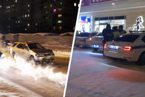 Угонщик в Новосибирске убегал от полиции и врезался в автобус
