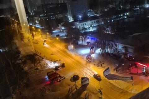 Диагностический центр загорелся в Новосибирске