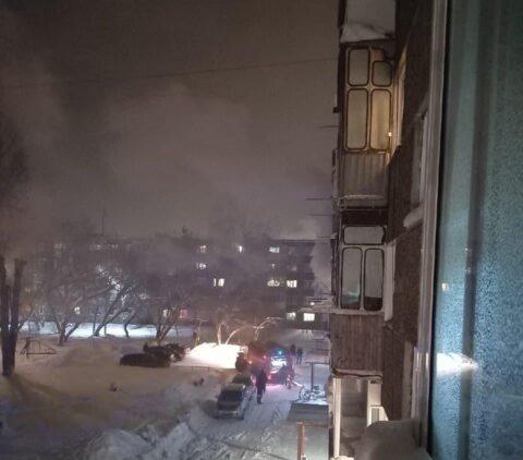 Два человека получили ожоги при пожаре в городе Обь