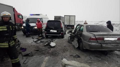 ДТП четырёх машин в Новосибирской области - пострадала женщина