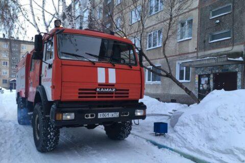 В Новосибирске при пожаре погиб мужчина