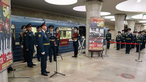 В метро Новосибирска открыли новый тематический вагон