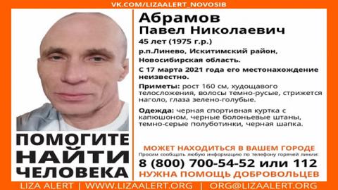 В поселке под Новосибирском пропал мужчина