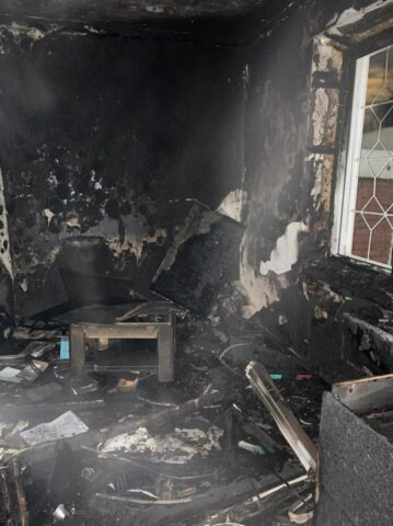 В Ленинском районе Новосибирска на пожаре погиб мужчина