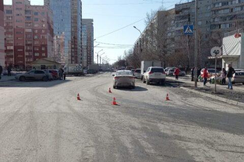 В авариях в Новосибирске пострадали две девочки