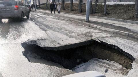 Проезжую часть на ул. Писарева в Новосибирске сузят