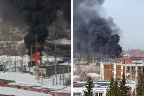 В Калининском районе Новосибирска загорелась электроподстанция