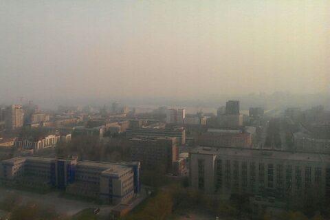 Небо над Новосибирском затянул смог от пожаров