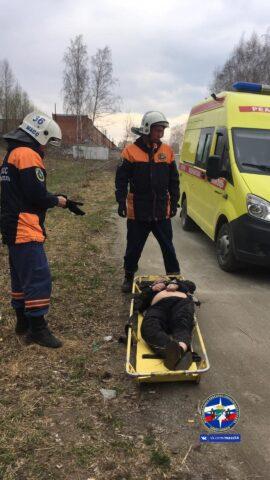 Из оврага спасли пьяного жителя Новосибирска