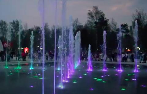 Светомузыкальный фонтан запустили в Новосибирске