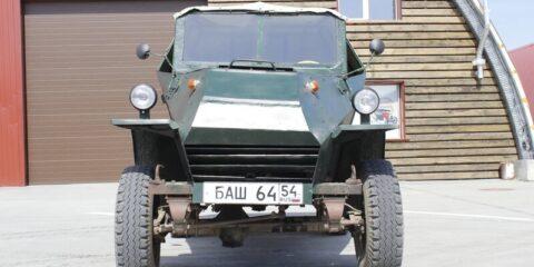 Броневик БАШ-64 восстановили в Новосибирске