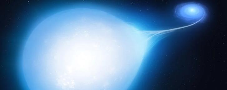 Две звезды, движущиеся по спирали к взрывной гибели, обнаружены в наших космических окрестностях